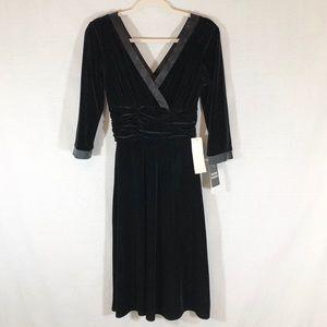 Sandra Darren Black Dress size 6
